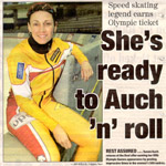 Calgary Sun newspaper article after Olympic trials